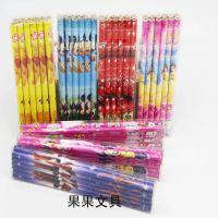 学习用品迪士尼卡通铅笔 文具批发 学生奖品 PVC盒装12支价格