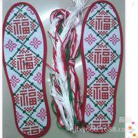 十字绣鞋垫批发 纯棉男女鞋垫 多层包边分码鞋垫XD-061方福 满绣