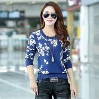 2014秋冬新款 女式羊毛衫 韩版长袖圆领短款针织上衣女打底衫