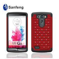 新款二合一手机壳 lg g3mini满天星贴钻手机保护套