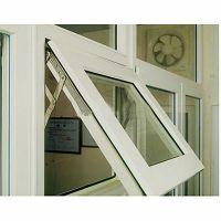 广州厂家定制 氧化白色铝合金钢化玻璃上悬窗 时尚美观