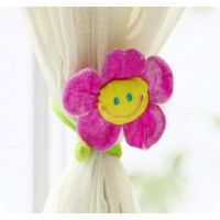 3052韩国太阳花窗帘扣可爱笑脸毛绒卡通窗帘单个售可选色22g