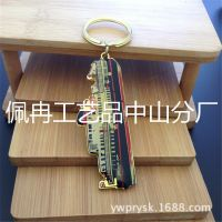 厂家直销金属创意轮船游艇钥匙扣链圈款汽车车标挂摆件可定制