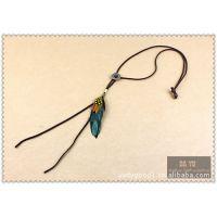 DAYU原创 欧美风格 波洛领带POLO TIE 羽毛皮绳项链XL07PL01