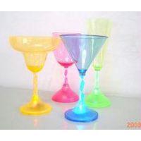 LED发光马提尼杯 雪糕杯 香槟杯 葡萄酒杯 七彩颜色 彩盒包装