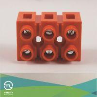 厂家直销优质防潮防水  轨道式接线端 橙色接线端子 JUT4B-4/3