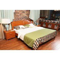 成都先驱家具厂--留香1.8米现代中式实木床 双人床