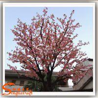 仿真樱花树 室外装饰玻璃钢仿真桃花树 外贸出口日本樱花真杆树