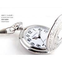 复古中性石英怀表 个性创意雕花表盘 款式定制外贸流行手表