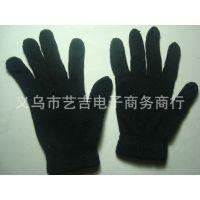 低价促销纯黑色魔术手套 晴纶手套批发 户外手套 学生手套