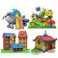 支持混批蓝帽子哆乐米基础版手工制作益智创意DIY玉米粒儿童玩具