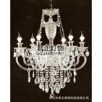 供应led水晶餐吊灯简约创意客厅卧室欧式水晶吊灯蜡烛吊灯具古镇灯饰