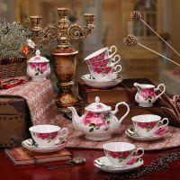 高档骨瓷咖啡杯碟套装陶瓷创意咖啡具 贵妃英式咖啡具 骨瓷咖啡具