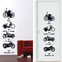 厂家生产供应AY7161个性自行车第五代可移墙贴 PVC透明膜墙贴