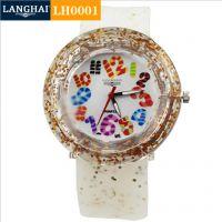 新款塑胶表供应 PVC透明塑胶手表 糖果数字塑胶表 优质个性男女表