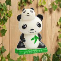 新奇特地摊热卖新产品搪胶整蛊惨叫婴儿童创意玩具熊猫公仔捏捏响
