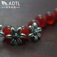 义乌纯银饰品厂家 热带植物造型手链挂件 DIY手工编织必备配件