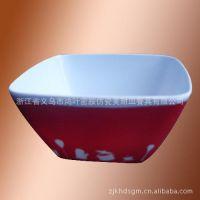 厂家直销密胺美耐皿四方碗/家居餐饮用品10寸四方碗