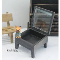 迷你小家具 拍摄道具 原木收纳盒子 木质收纳盒 首饰盒两色