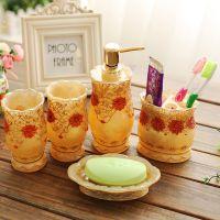 JAKA树脂卫浴五件套 家居用品 结婚礼品 洗漱套件 创意韩式