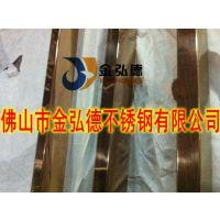 黄钛金不锈钢装饰管规格63*1.0mm真空镀不锈钢圆管厂家直销