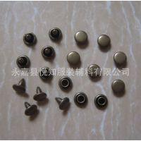 【悦知工厂】批发6*6mm双面撞钉 皮具箱包铜DIY铆钉