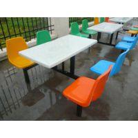 玻璃钢材质的食堂餐桌质量怎么样 东莞八人位长条凳餐桌厂家直销