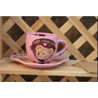 迪士尼正版達菲熊Duffy咖啡杯卡通创意杯子 缺货