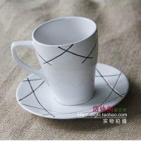 外贸陶瓷餐具EHPSE几何图案马克杯 陶瓷杯 水杯 早餐杯 咖啡杯