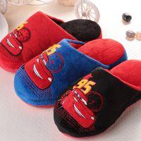 正品迪士尼汽车总动员儿童冬季新款男女童居家保暖棉拖鞋14622