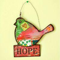 歌赋 欧式田园花鸟挂牌 家居装饰品墙面木质挂牌手工工艺品