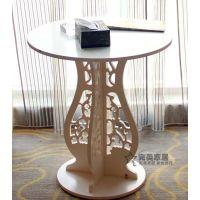 新款特价田园白色茶几镂空圆桌茶桌餐桌咖啡桌