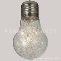 供应厂家热销玻璃灯具简约 家居照明室内外高档时尚单头吊灯 MD1092-5