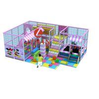 室内儿童游乐场 40平方左右 粉色糖果风 好玩又有趣 游乐设备厂家
