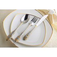 批发西餐厅餐具 高档牛扒刀叉 口福不锈钢餐具 精美礼品不锈钢餐具