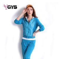 实拍2014新款女装运动服 韩版休闲套装 连帽开衫卫衣女士三件套装
