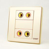 供应正泰面板NEW6-D317(/C)四联音响插座