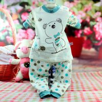 2014新款好鑫2464儿童内衣 宝宝长袖小中童套装 90-120肩扣内衣