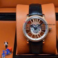 速卖通爆款 拱形蓝宝石镜面彩色内影小卡罗马皮带手表 镂空女表