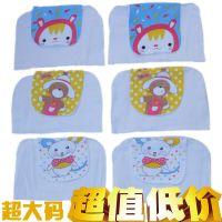 印花加宽加大隔汗巾 四层透气儿童垫背巾 婴儿卡通动物宝宝吸汗巾