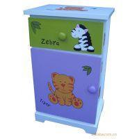 韩式田园风格 儿童床头柜 儿童家具 收纳柜 儿童柜子