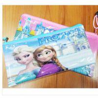 迪士尼&冰雪奇缘PVC笔袋 出货单文件袋  分类袋 学习文具用品批发