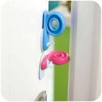 宝宝蜗牛安全门档 儿童房防风防夹手可旋转彩色动物造型塑料门档