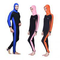 连体防晒服水母衣浮潜服长袖潜水服潜水衣男女防紫外线泳衣 现货