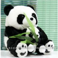 包邮正品可爱嘟嘟可爱母子熊猫公仔毛绒玩具仿真大熊猫生日礼物