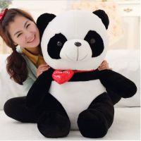 儿童节情侣熊猫公仔抱枕布娃娃毛绒玩具生日礼物批发现货一件代发