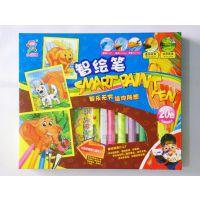 小魔坊智绘笔20色功能三合一水彩、蜡笔水溶油画棒儿童绘画棒