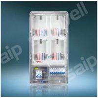 透明电表箱 单相4户透明电表箱 上下结构透明壳电表箱