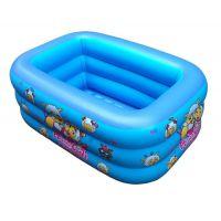 现货直销新生儿充气游泳池 婴幼儿童长方形折叠充气水池