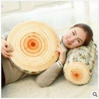 毛绒玩具树桩砧板抱枕长圆柱树干靠枕办公室椅子坐垫护腰靠垫